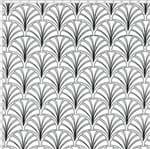 Tecido Estampado para Patchwork - Coleção Monochrome Leques (0,50x1,40)