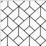 Tecido Estampado para Patchwork - Coleção Monochrome Square (0,50x1,40)