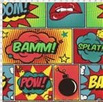 Tecido Estampado para Patchwork - Coleção Pop Art Illustrations (0,50x1,40)
