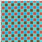 Tecido Estampado para Patchwork - Coleção Quad. Verde/Marrom Cor 02 LU021 (0,50x1,40)