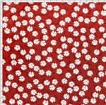 Tecido Estampado para Patchwork - Coleção Red Work Jardim das Flores (0,50x1,40)