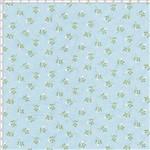 Tecido Estampado para Patchwork - Coleção Romance Botãozinho Romance Azul Bali (0,50x1,40)