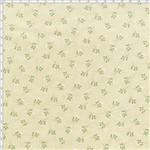Tecido Estampado para Patchwork - Coleção Romance Botãozinho Romance Creme (0,50x1,40)