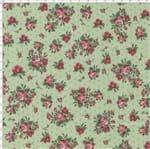 Tecido Estampado para Patchwork - Coleção Romance Cor 02 Verde (0,50x1,40)