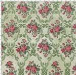 Tecido Estampado para Patchwork - Coleção Romance Romântica Cor 01 Verde (0,50x1,40)