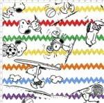Tecido Estampado para Patchwork - Coleção Snoopy Chevron Fundo Branco (0,50x1,40)