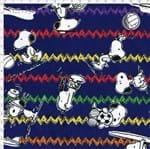 Tecido Estampado para Patchwork - Coleção Snoopy Chevron Fundo Marinho (0,50x1,40)