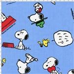 Tecido Estampado para Patchwork - Coleção Snoopy Expressões (0,50x1,40)