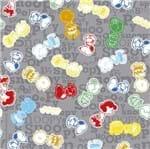 Tecido Estampado para Patchwork - Coleção Snoopy Turma Fundo Cinza (0,50x1,40)