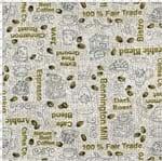 Tecido Estampado para Patchwork - Composê Café Expresso Cor 1568 (0,50X1,40)