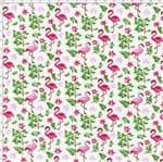 Tecido Estampado para Patchwork - Composê Flamingos Cor 1553 (0,50X1,40)