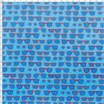 Tecido Estampado para Patchwork - Compose Fox Sunglesses Azul 01 (0,50x1,40)