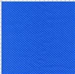 Tecido Estampado para Patchwork - Composê Poá Azul Bic Cor 1594 (0,50X1,40)