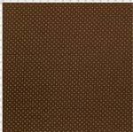 Tecido Estampado para Patchwork - Composê Poá Marrom Chocolate Cor 1603 (0,50X1,40)