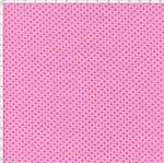 Tecido Estampado para Patchwork - Composê Poá Rosa com Marrom 1601 (0,50X1,40)