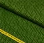 Tecido Estampado para Patchwork - Composês Requinte Verde com Dourado Cor 2217 (0,50x1,40)