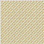 Tecido Estampado para Patchwork - Coração com Efeito Bege (0,50X1,40)