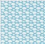 Tecido Estampado para Patchwork - Corujinha Nuvens Cor 01 Azul (0,50x1,40)