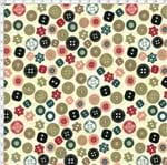 Tecido Estampado para Patchwork - Costurices Botões (0,50x1,40)