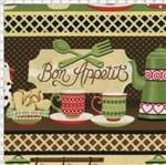 Tecido Estampado para Patchwork - Cozinha Country Cor 2008 (0,50x1,40)