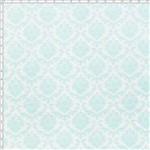 Tecido Estampado para Patchwork - Damask Acqua (0,50x1,40)