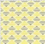 Tecido Estampado para Patchwork - Diamantes Amarelo Cor 1810 (0,50x1,40)