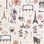 Tecido Estampado para Patchwork Digital Avec Paris Ref 332429 - Cor Palha 360 (0,50 X 1,40)