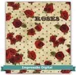 Tecido Estampado para Patchwork - Digital Coleção Roses Cor 02 Bege (0,50x1,40)