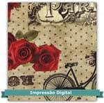 Tecido Estampado para Patchwork - Digital Coleção Roses Red Cor 02 Bege (0,60x1,40)