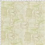 Tecido Estampado para Patchwork - Digital Selos Bege (0,50x1,40)