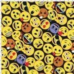 Tecido Estampado para Patchwork - Emoji 01 (0,50x1,40)