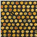 Tecido Estampado para Patchwork - Emoji 325252 Cor 1621 (0,50X1,40)
