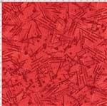 Tecido Estampado para Patchwork - Fantasia Airton Spengler: Textura Vermelho (0,50x1,40)