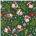 Tecido Estampado para Patchwork - Feliz Natal Cor 2039 (0,50x1,40)