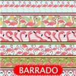 Tecido Estampado para Patchwork - Flamingos Tropical Cor 2092 (0,50x1,40)