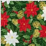 Tecido Estampado para Patchwork - Flor de Espírito Santo Cor 2032 (0,50x1,40)