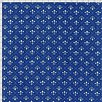 Tecido Estampado para Patchwork - Flor de Lis Miúda Fundo Azul - 06 (0,50x1,40)