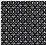 Tecido Estampado para Patchwork - Flor de Lis Miuda Fundo Preto C02 (0,50x1,40)