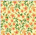 Tecido Estampado para Patchwork - Floral Amarelo Cor 2 (0,50x1,40)