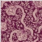 Tecido Estampado para Patchwork - Floral com Arabesco Vinho Cor 02 (0,50x1,40)