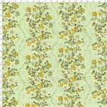 Tecido Estampado para Patchwork - Floral Faixas Verde Cor 02 51096 (0,50x1,40)