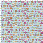 Tecido Estampado para Patchwork - Floral Fofa Azul Cor 01 (0,50x1,40)
