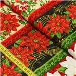 Tecido Estampado para Patchwork - Floral Natalino Requinte Cor 2202 (0,50x1,40)