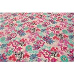 Tecido Estampado para Patchwork - Flower Multicolor Rose 02 (0,50x1,40)