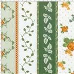 Tecido Estampado para Patchwork - Fluorita Barras Flores Amarelo Cor 1 (0,50x1,40)