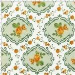 Tecido Estampado para Patchwork - Fluorita Flores Amarelo Cor 1 (0,50x1,40)
