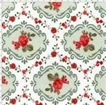 Tecido Estampado para Patchwork - Fluorita Flores Vermelho Cor 1 (0,50x1,40)