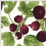 Tecido Estampado para Patchwork - Fruits: Figos e Folhas (0,50x1,50)