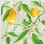 Tecido Estampado para Patchwork - Fruits: Limão Fundo Bege (0,50x1,50)