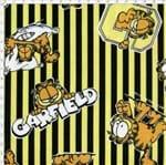 Tecido Estampado para Patchwork - Garfield com Listras Amarela (0,50x1,40)